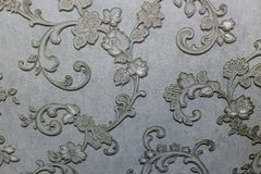 Флористические обои предпосылки на стене Стоковое Фото