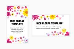 Флористические современные минималистские карточки вектора Стоковые Изображения