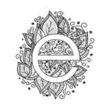 Флористические элементы дизайна письма e Стоковая Фотография