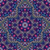 Флористический безшовный график doodle картины Стоковое Изображение