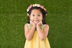 флористический венок девушки Стоковая Фотография RF