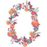 Флористический венок сделанный wildflowers Стоковые Фото