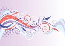 Флористический волнистый дизайн Стоковые Изображения