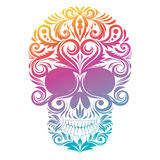 Флористический декоративный череп Стоковая Фотография RF