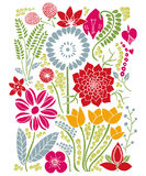 Флористический дизайн лета Natura предпосылки Стоковые Изображения