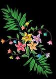Флористический дизайн иллюстрации вектора Стоковое Изображение RF
