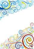 Флористический дизайн предпосылки Стоковое Изображение RF