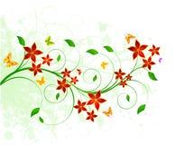 Флористический дизайн предпосылки Стоковые Фотографии RF