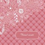 Флористический дизайн, цветки и лист карточки doodle элементы иллюстрация штока