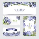 Флористический комплект карточек Стоковые Изображения