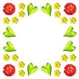 Флористический красочный комплект предпосылки картины Стоковая Фотография