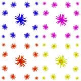 Флористический красочный комплект предпосылки картины стоковое изображение rf