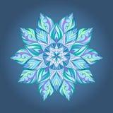Флористический круговой пестротканый орнамент Стоковая Фотография RF