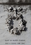 Флористический орнамент венка Стоковое Фото
