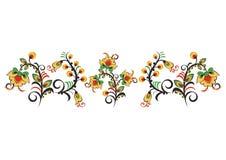 Флористический орнамент в стиле Hohloma Русский фольклор Стоковая Фотография RF