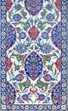 Флористический орнамент на плитках Стоковое Фото