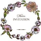 флористический сбор винограда рамки Стоковые Фотографии RF