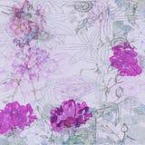 Флористический свет - пурпуровая предпосылка Стоковые Изображения