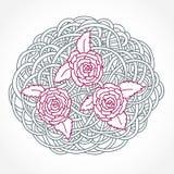 Флористический состав Розы круглый Стоковая Фотография