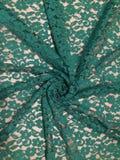 Флористический сделанный по образцу зеленый шнурок Стоковая Фотография RF
