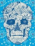 Флористический череп Стоковые Фотографии RF