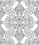 Флористический черно-белый орнамент Стоковое Фото