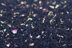 Флористический черный чай Стоковые Изображения RF