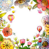 Флористический шаблон карточки Стоковое Изображение RF