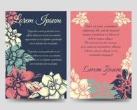 Флористический шаблон рогулек брошюры стиля boho Стоковые Изображения