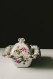 Флористическое блюдо фарфора Стоковое фото RF