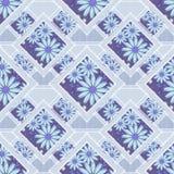 Флористическое заплатки абстрактное безшовное, предпосылка света текстуры картины с декоративными элементами Стоковые Изображения