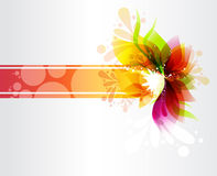 Флористическое знамя Стоковое Изображение RF