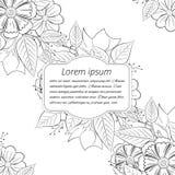 Флористическое нарисованное вручную приглашение свадьбы Стоковая Фотография