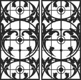 Флористическое окно иллюстрация штока