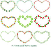 Флористическое сердце, печать искусства валентинки, флористическое искусство, домашнее оформление, Printable художественное произ Стоковое фото RF