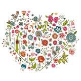 Флористическое сердце Стоковые Изображения