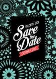 Флористическое спасение шаблон /illustration карточки приглашения даты Стоковая Фотография