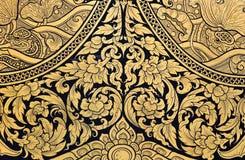 Флористическое тайское искусство Стоковые Изображения RF