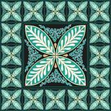 Флористическое традиционное оформление дома мозаики Стоковое фото RF