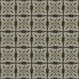 Флористическое традиционное оформление стены мозаики Стоковая Фотография RF