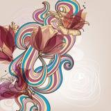 Флористическое украшение Стоковые Изображения RF