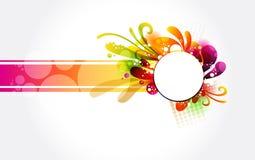 Флористическое цветастое знамя Стоковое Фото