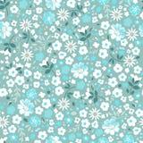 Флористическое Ditsy белое | безшовный бесплатная иллюстрация