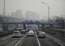 Хайвеи Пекина Стоковая Фотография