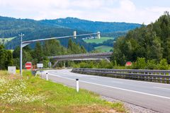 хайвей австрийца alps Стоковое Изображение RF