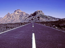хайвей вулканический Стоковая Фотография RF