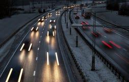 Хайвей в зиме стоковые изображения rf