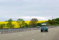 Хайвей в Франции стоковое фото