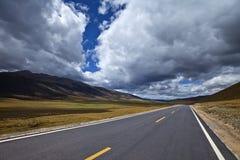 хайвей гористой местности Стоковое Изображение RF