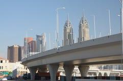хайвей Дубай города стоковые изображения